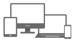 An Image of a desktop, laptop, tablet and mobile device as it relates to responsive web design for SEO